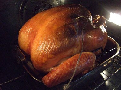 Oven Roasted Beer Brined Turkey