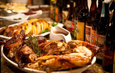 Thanksgiving Feast with Craft Beer