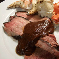 Smoked Beef Brisket with Chocolate Ancho Rub