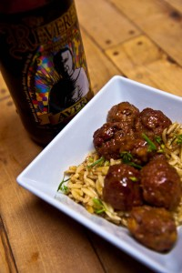 Beer Braised Flemish Meatballs