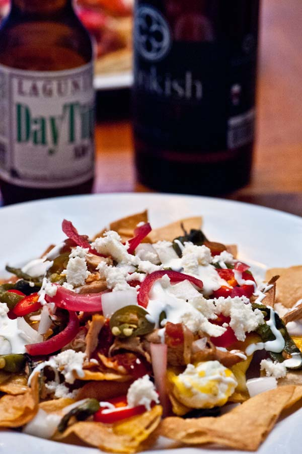 Nachos with Mexican Style Beer Stewed Chicken