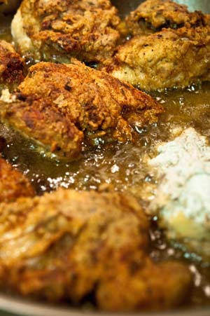 Buttermilk Fried Pale Ale Beer-Brined Cornish Game Hens