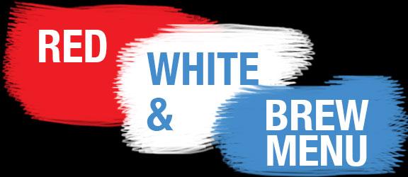 Red White & Brew Menu