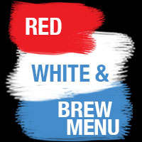 Red, White & Brew Menu