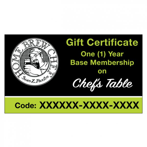 One (1) Year Base Membership Gift Certificate