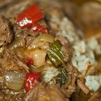 Tasso Beer-Brined Pig Head Gumbo