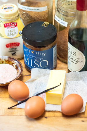 Butterscotch Miso Pudding Recipe Ingredients