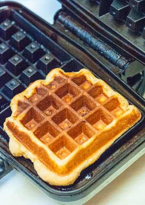 Cooking Liege Style Belgian Waffle