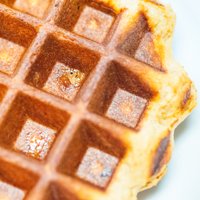 Cooked Liege Style Belgian Waffle
