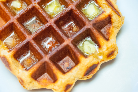Liege Style Belgian Waffle with melted butter