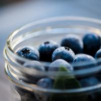 Pickled Blueberries side